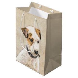 Pastor-Jack-Russell-Terrier, der die 2 Hundekunst Mittlere Geschenktüte