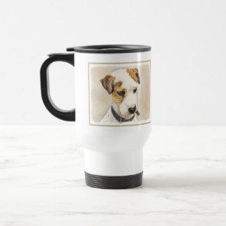 Pastor-Jack-Russell-Terrier, der die 2 Hundekunst Reisebecher