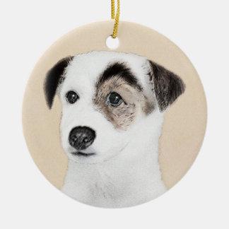 Pastor-Jack-Russell-Terrier-Malerei - Hundekunst Keramik Ornament
