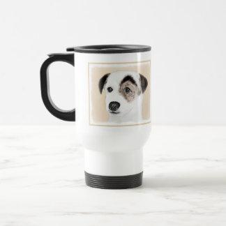 Pastor-Jack-Russell-Terrier-Malerei - Hundekunst Reisebecher