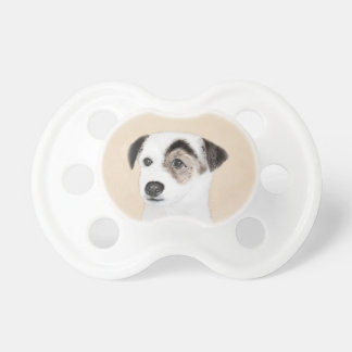 Pastor-Jack-Russell-Terrier-Malerei - Hundekunst Schnuller