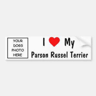 Pastor Russel Terrier Autoaufkleber