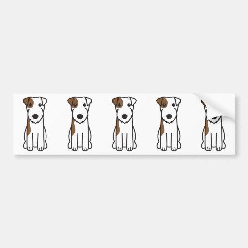 Pastor-Russell-Terrier-HundeCartoon Autosticker
