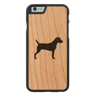 Pastor-Russell-Terrier-Silhouette Carved® iPhone 6 Hülle Kirsche