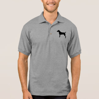 Pastor-Russell-Terrier-Silhouette Polo Shirt