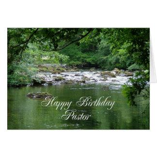 Pastorgeburtstagskarte, die einen Fluss zeigt Karte