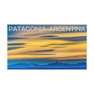 Patagonia-Landschaftssonnenuntergang-Szene, Leinwanddruck