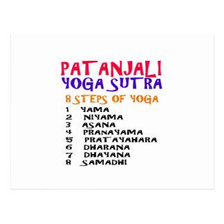 PATANJALI Yoga Sutra Zusammenstellungs-Liste Postkarte
