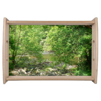 Patapsco Fluss-Ansicht-Maryland-Natur-Fotografie Serviertablett