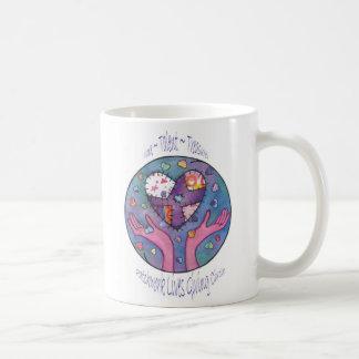 Patchwork-Leben, die Kreis geben Kaffeetasse