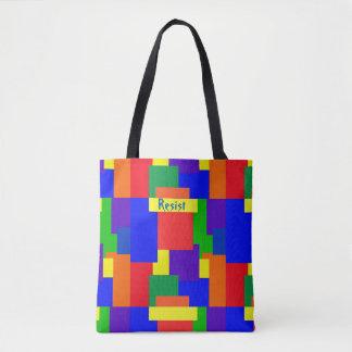 Patchwork-Steppdecken-Regenbogen widerstehen Tasche
