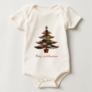 Patchwork-Weihnachten Baby Strampler