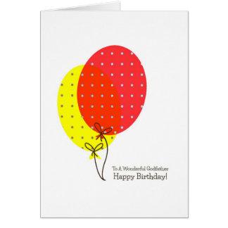 Pate-Geburtstagskarten, große bunte Ballone Karte