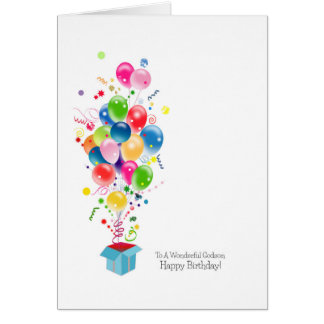 Patensohn-Geburtstagskarten, bunte Ballone Grußkarte