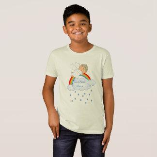 Patensohn-Geschenk-niedlicher Engels-Regenbogen T-Shirt