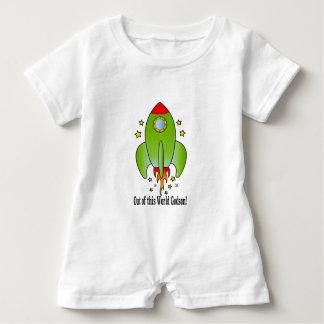Patensohn mit Rocket-Schiff Baby Strampler