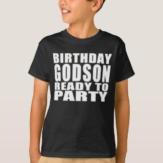 Patensöhne: Geburtstags-Patensohn bereit zum Party T-Shirt
