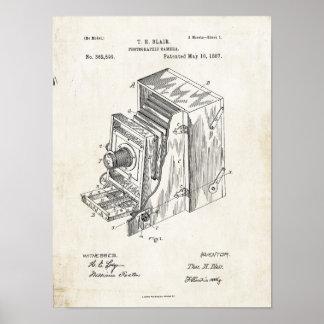Patent-Druck der photographischen Kamera-1887 Poster