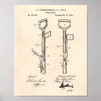 Patent-Kunst altes Peper der Poster
