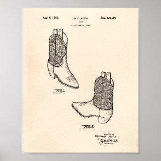 Patent-Kunst altes Peper des Stiefel-1940 Poster