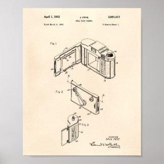 Patent-Kunst der Rollenfilm-Kamera-1952 - altes Poster