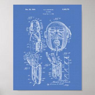 Patent-Kunst-Plan der Gasmaske-1944 Poster