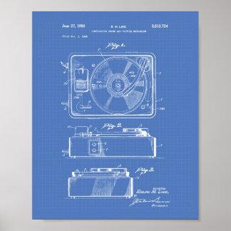 Patent-Kunst-Plan der Spieluhr-1950 Poster