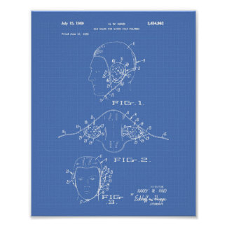 Patent-Kunst-Plan des Ohr-Schutz-Wasserball-1969 Poster