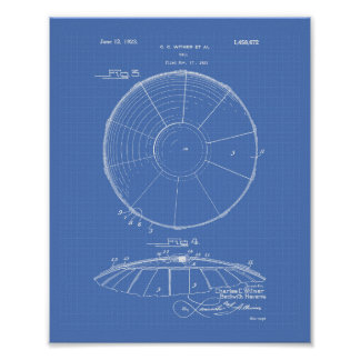 Patent-Kunst-Plan des Wasserball-Ball-1923 Poster