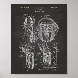 Patent-Kunst-Tafel der Gasmaske-1944 Poster