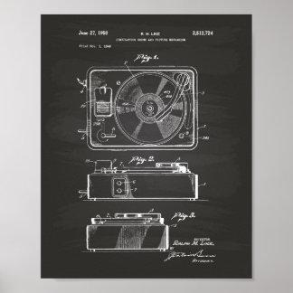 Patent-Kunst-Tafel der Spieluhr-1950 Poster