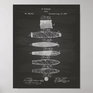 Patent-Kunst-Tafel der Zigarren-1887 Poster