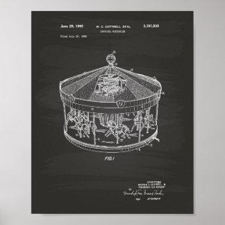 Patent-Kunst-Tafel des Karussell-Mechanismus-1965 Poster