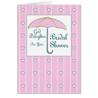 Patenttochter, Brautparty-rosa Regenschirm Karte