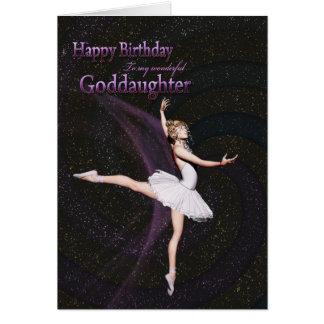 Patenttochter, eine Ballerinageburtstagskarte Karte