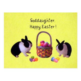 Patenttochter, fröhliche Ostern! Postkarte