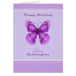 Patenttochter-Geburtstags-Karte - lila Karte