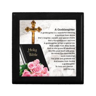 Patenttochter-Gedicht - Bibel-u. Blumen-Entwurf Geschenkbox
