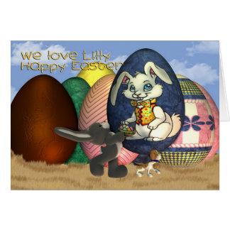 Patenttochter Lilly fröhliche Ostern Karte