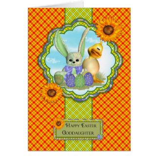 Patenttochter-niedliche Ostern-Karte mit Kaninchen Karte