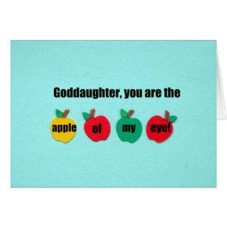 Patenttochter, sind Sie der Apfel meines Auges! Karte