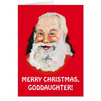 Patenttochter-Weihnachtsmann-Weihnachten Karte