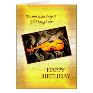 Patenttochtergeburtstagskarte mit einer Violine Karte