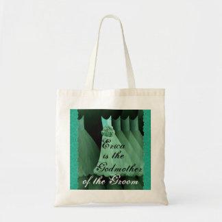Patin der Bräutigam-Grün-Brautjungfern-Kleider Einkaufstaschen