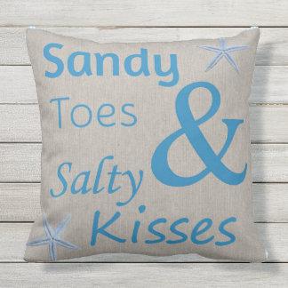 Patio-Kissen-Sandy-Zehen und salziger Kuss-Strand Zierkissen