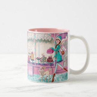 Patisserie-Mode-Geburtstags-Mädchen-niedliche Zweifarbige Tasse