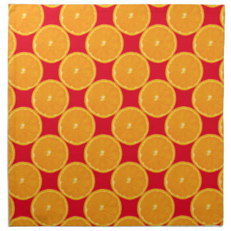 Patriciapotluck orange Scheibe-rote Stoffserviette