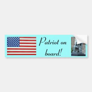 Patriot an Bord! Autoaufkleber