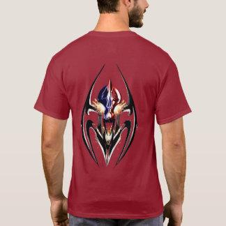 PATRIOT-FEUER BEARBEITET WAPPEN-DUNKELHEIT T - T-Shirt