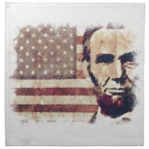 Patriot-Präsident Abraham Lincoln Serviette